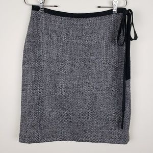 J Crew Grey Wool Pencil Skirt Size 6